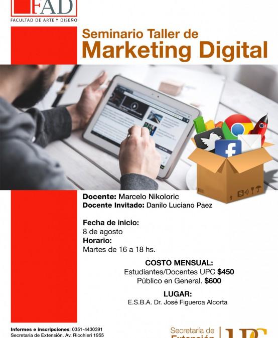 Seminario Taller de Marketing Digital