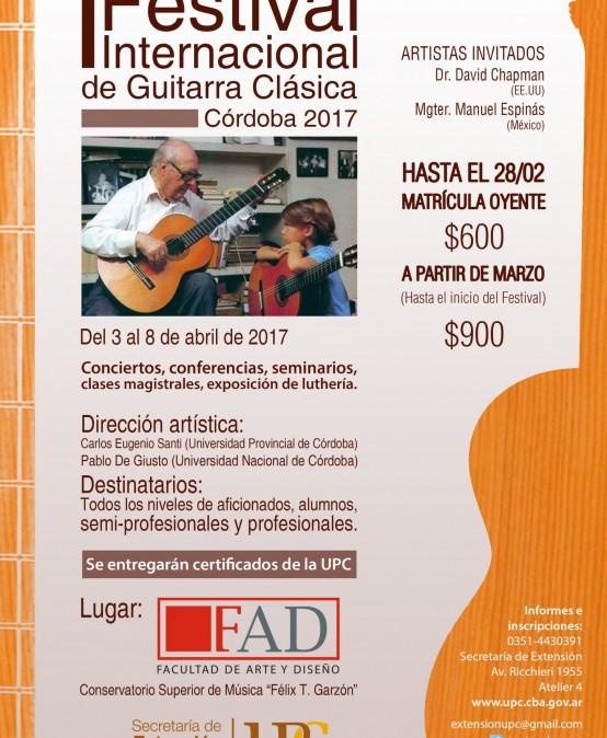 I Festival Internacional de Guitarra Clásica 2017