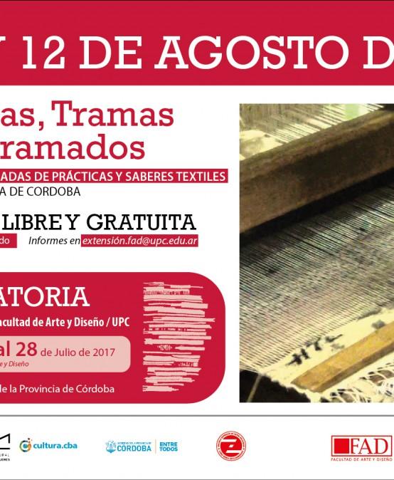 1° Jornadas de prácticas y saberes textiles de la provincia de Córdoba