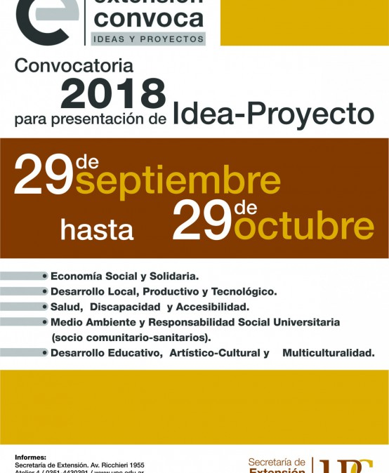 Convocatoria Idea-Proyecto 2018