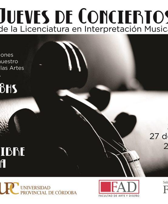 Ciclo de conciertos en la Sala Farina