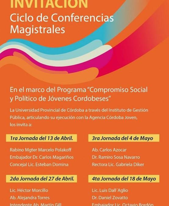 Ciclo de Conferencias Magistrales para jóvenes cordobeses