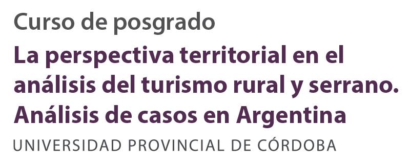 La perspectiva territorial en el análisis del turismo rural y serrano
