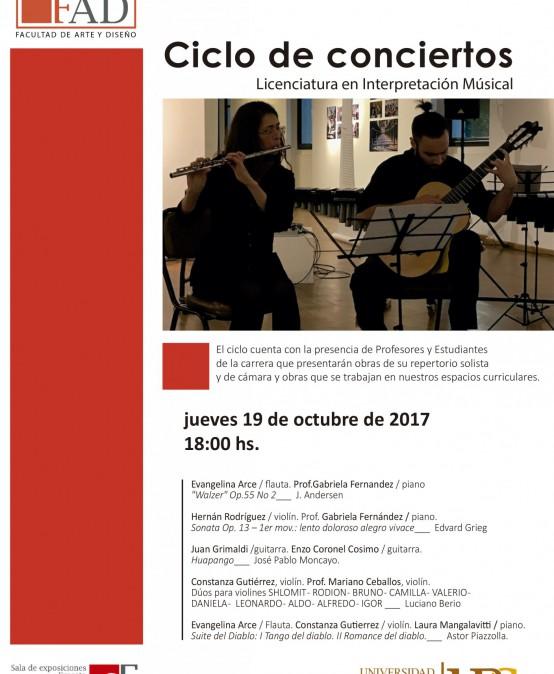 Ciclo de Conciertos de la Licenciatura en Interpretación Musical –FAD- UPC