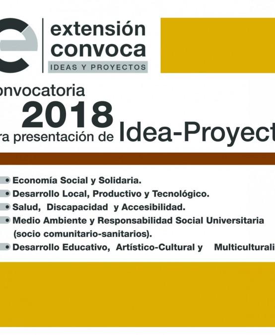 Prórroga para la Convocatoria Idea-Proyecto 2018