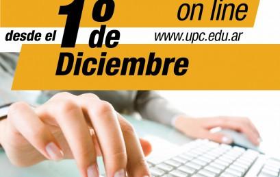 Desde diciembre estarán abiertas las pre-inscripciones en la UPC