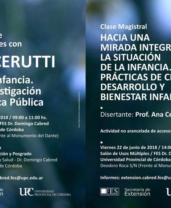 Encuentro de Investigadores con Ana Cerutti