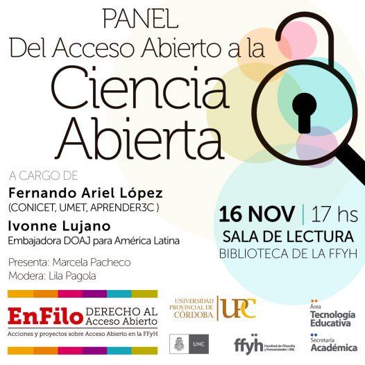 Panel: del Acceso abierto a la Ciencia Abierta