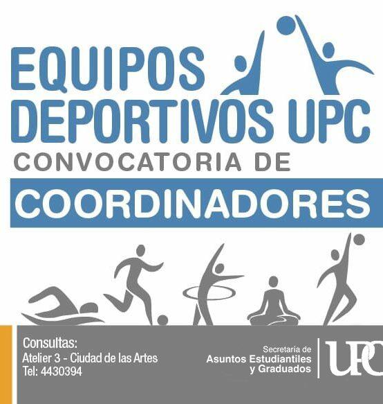 Convocatoria para Coordinadores Deportivos UPC 2019