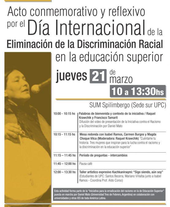 Acto de conmemoración y reflexión por el Día Internacional de la Lucha contra la Discriminación Racial