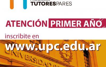 ¡Ingresante, solicitá un tutor para tus primeros pasos en la Universidad!