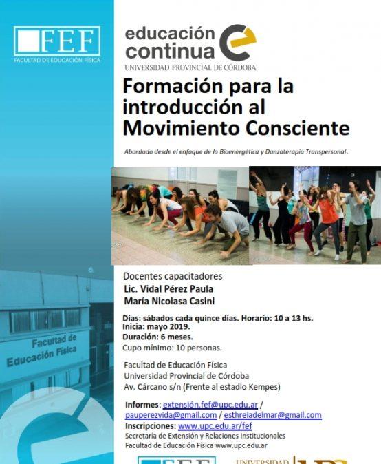 Curso: Formación para la Introducción al Movimiento Consciente