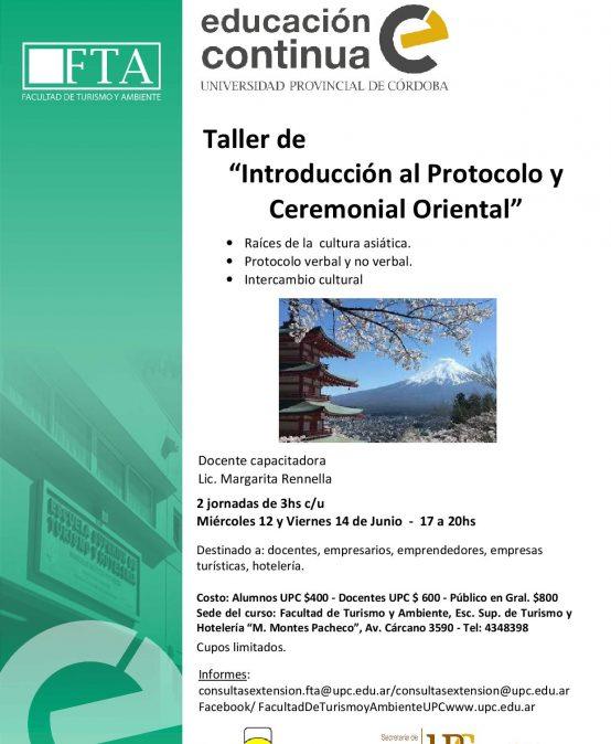 Curso Introducción al Protocolo y Ceremonial Oriental