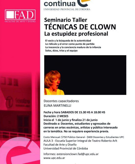 Seminario Taller: Técnicas de Clown. La estupidez profesional
