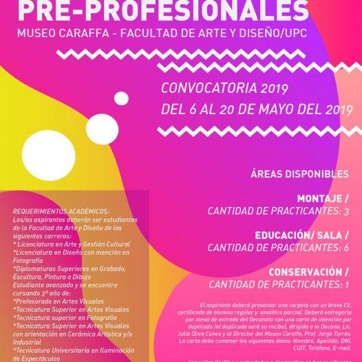 Convocatoria para Prácticas Pre-profesionalizantes en la FAD