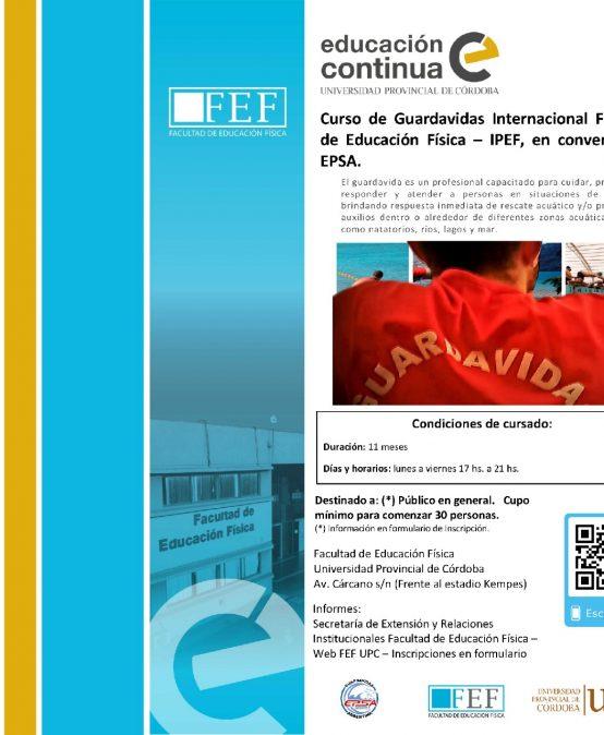 Curso de Guardavidas Internacional en convenio con EPSA
