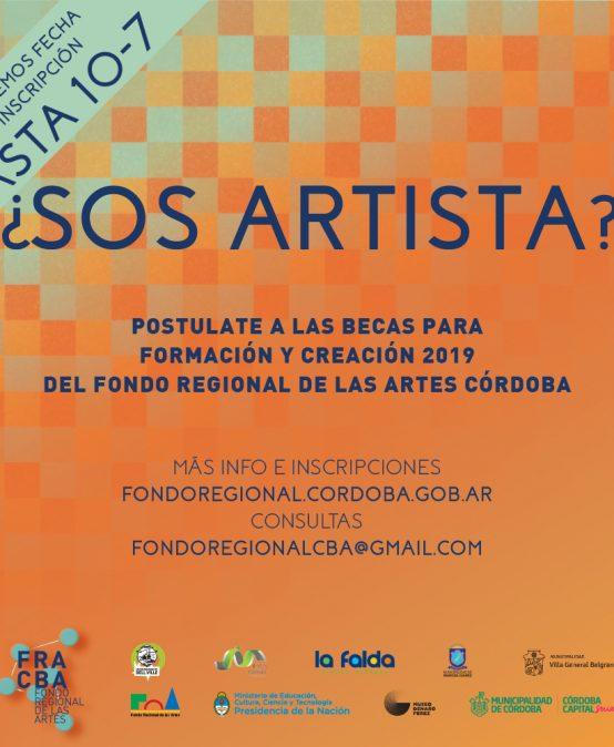 Se extendió el plazo para las Becas del Fondo Regional de las Artes y la Transformación Social