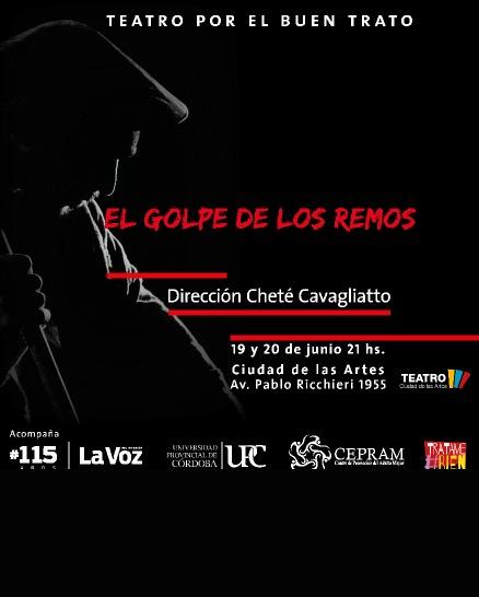 El golpe de los remos: excepcional puesta teatral con la dirección de Cheté Cavagliato