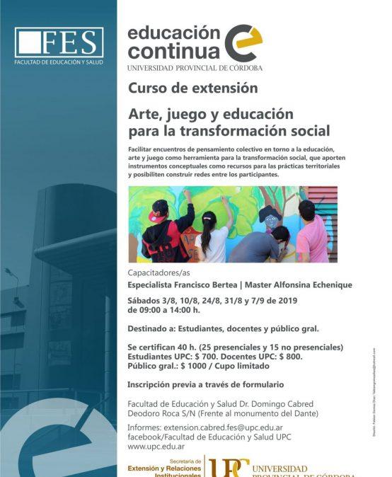Curso: Arte, juego y educación para la transformación social