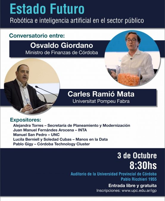 Se viene el seminario de robótica e inteligencia artificial en el sector público