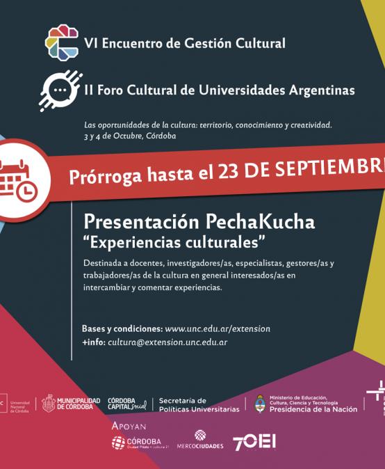 Convocatoria para presentación de Experiencias y Proyectos Culturales Universitarios