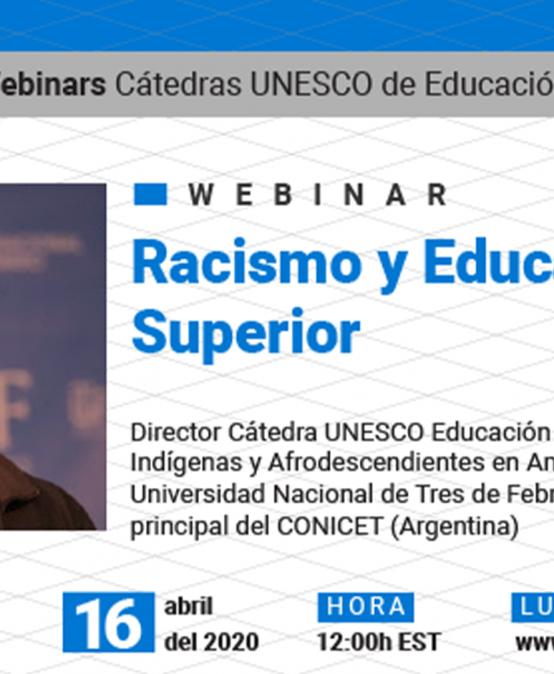 Participá del Webinario sobre racismo y Educación Superior