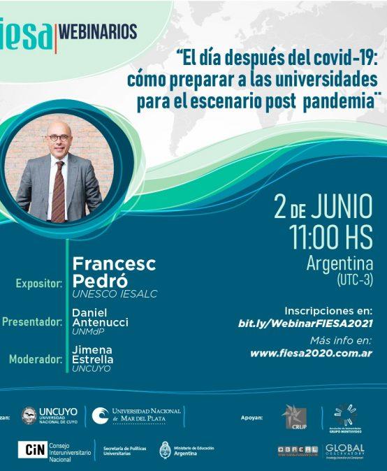 Ciclo de Webinarios de la Feria Internacional de Educación Superior Argentina