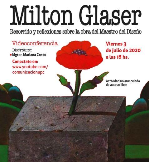¡No te pierdas la videoconferencia sobre la obra de Milton Glaser!