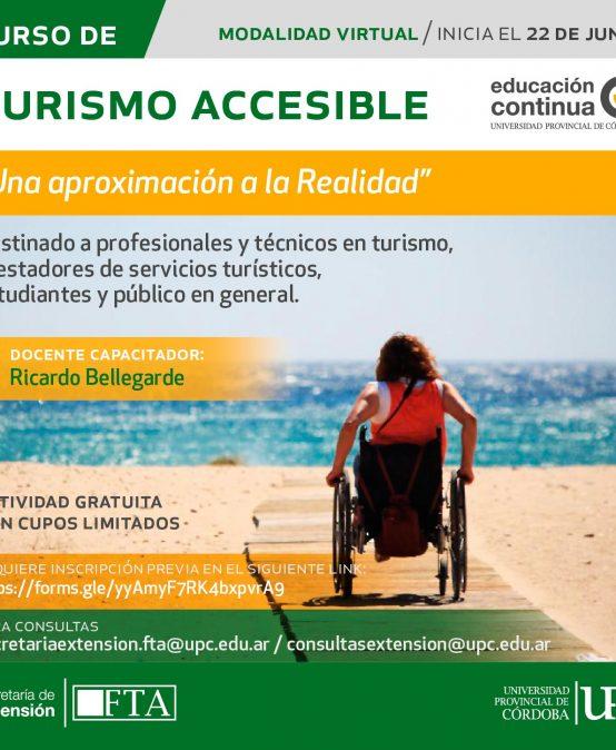 Curso libre y gratuito: Turismo Accesible, una aproximación a la realidad