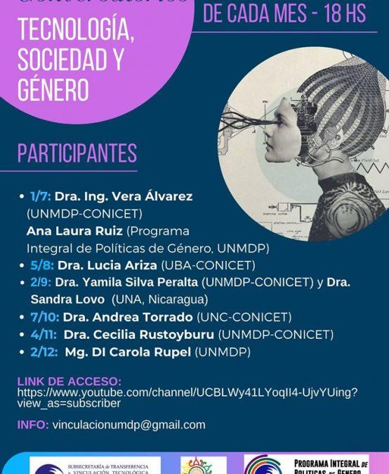 Ciclo mensual de Conversatorios: Tecnología, sociedad y género