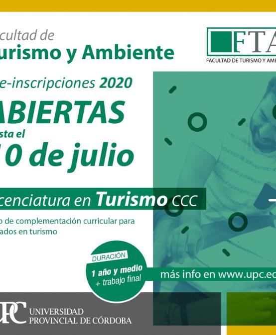 Continúan las pre-inscripciones para la Licenciatura en Turismo (CCC)