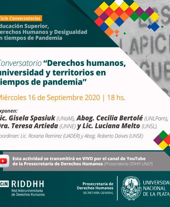 Ciclo de conversatorios: Educación superior, derechos humanos y desigualdad en tiempos de pandemia